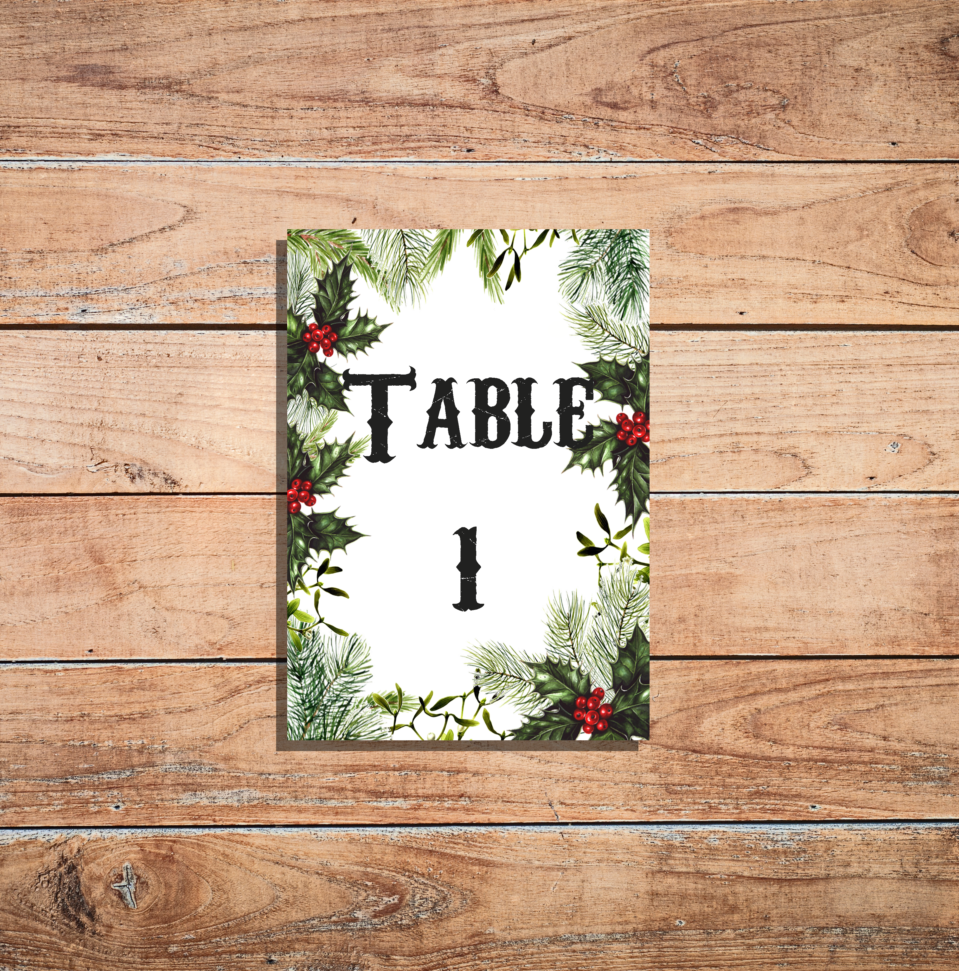 Festive Table Number
